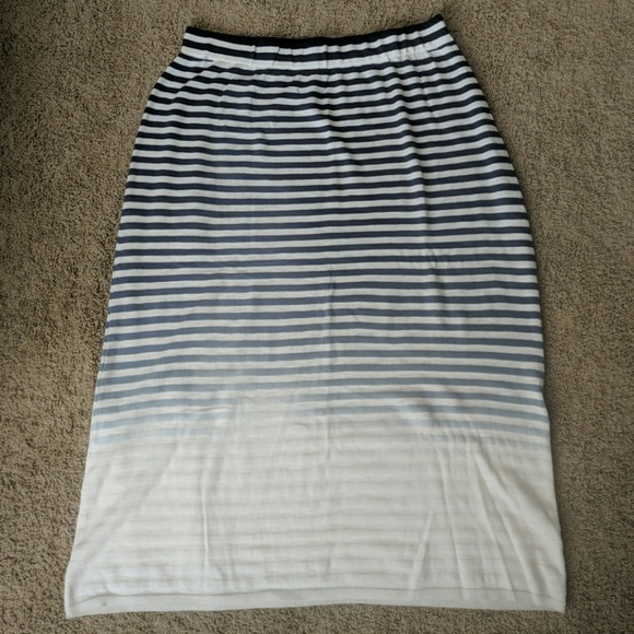 cc920eb8f Lane Bryant Skirts | Ombre Striped Maxi Skirt | Poshmark